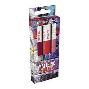 Super Stay Labial Larga Duración Matte Ink Nyc Favs 5mL X3