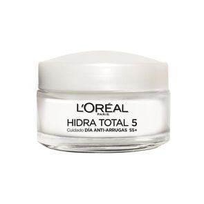 Hidra-Total 5 Crema Facial Antiarrugas Humectante con Calcio Todo Tipo de Piel 55+ 50 mL