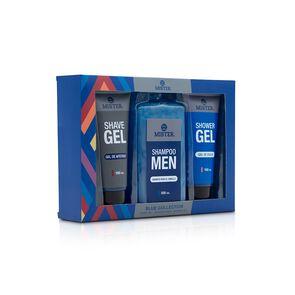 Shower Gel Blue 150 mL + Shampoo 500 mL + Shave Gel 150 mL