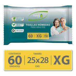 Toallas Húmedas Para Adultos Sin Tapa Tamaño Xg X60