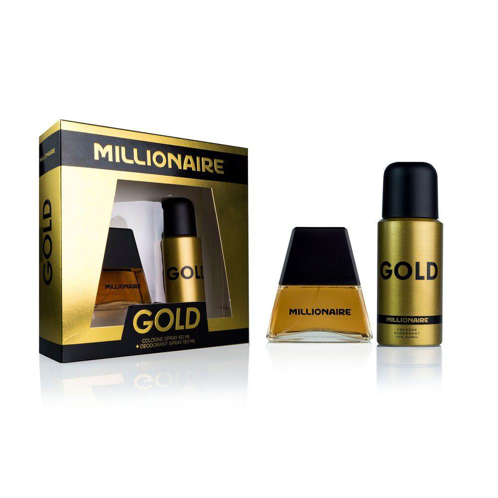 Estuche Gold Eau De Cologne 60 mL +Desodorante Spray 150 mL image number null