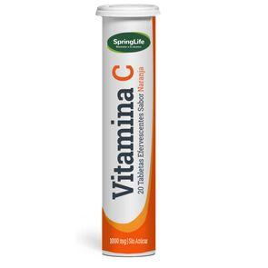 Vitamina C 20 Tabletas Efervescente Sabor Naranja Sin Azúcar 1000 mg