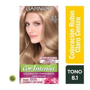 Coloración Cor Intensa 8.1 Rubio Claro Ceniza Garnier