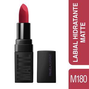 Matte Labial Color Dark Red