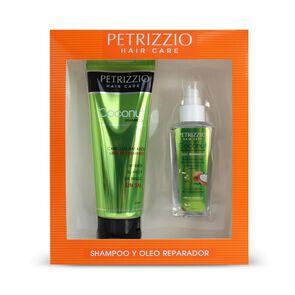 Estuche Petrizzio  Shampoo + Óleo Coco