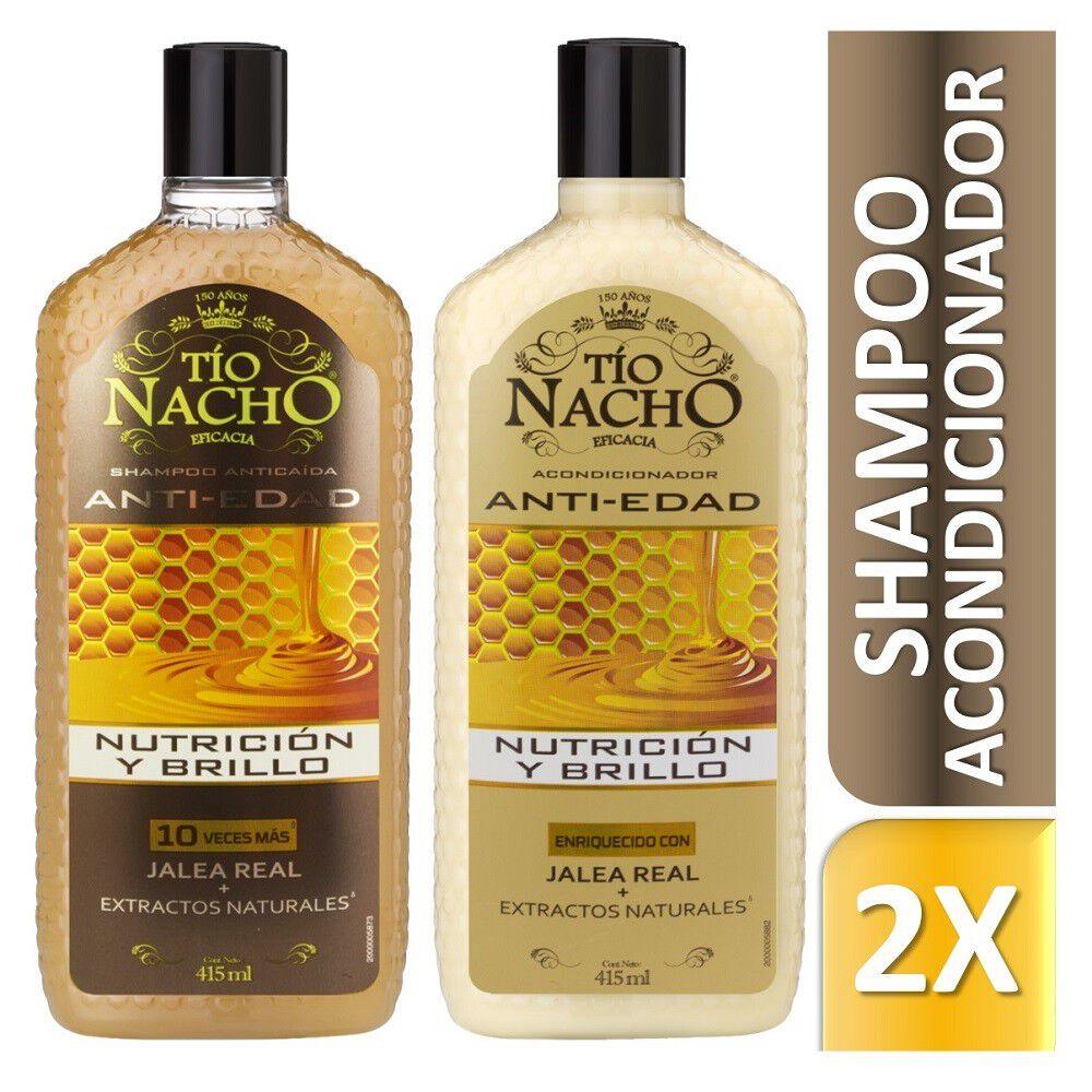 Shampoo Prevención Caída Anti Edad 415 mL + Acondicionador..