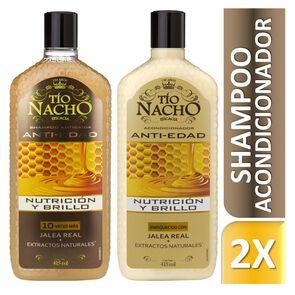 Shampoo Prevención Caída Anti Edad 415 mL + Acondicionador 415 mL