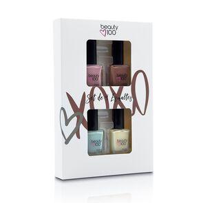 Pack x4 Esmaltes De Uñas Beauty Colores Rosados