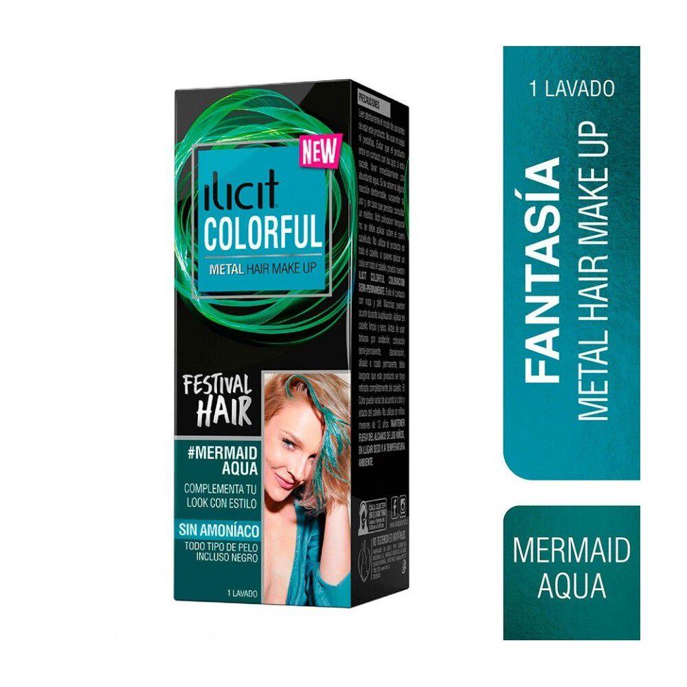 Colorful Coloración Semi Permanente Metal Sin Amoniaco Mermaid Aqua 30 mL image number null