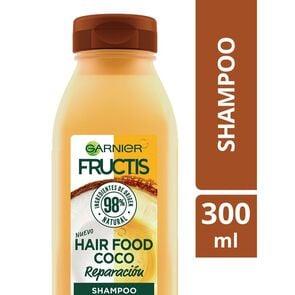 Garnier Hair Food Shampoo Coco Reparación Cabello Dañado 300 mL