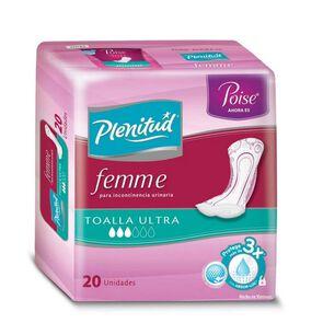 Toalla para Incontinencia Urinaria Femme Ultra Sin Alas 20 unidades