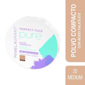 Perfect Face Pure Polvo Compacto Medium P/Mixtas y Grasas 12 grs
