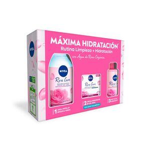 Agua de Rosas Organica Micelar Bifásica 400 mL + Crema Facial 50 mL + Mist 150 mL