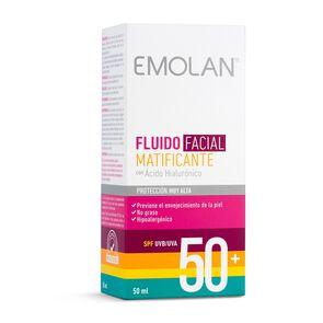 Fluido Facial Matificante Spf50+ con Acido Hialurónico 50 mL