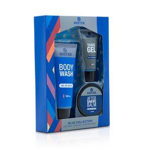 Blue Body Wash + Shave Gel + Shave Balsamo