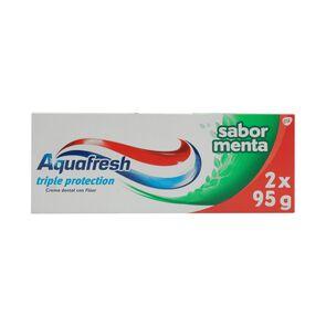 Pack Crema Dental Triple Acción Sabor Menta con Flúor 95Gr X2