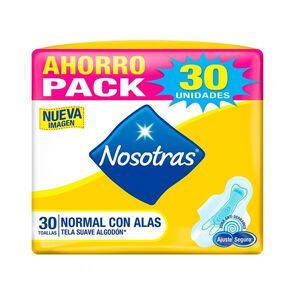 Nosotras Toalla Higiénica Normal Suave con Alas X30