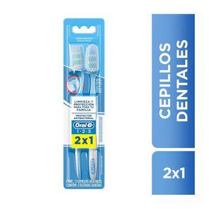 Cepillos Dentales Medio 1-2-3 X2