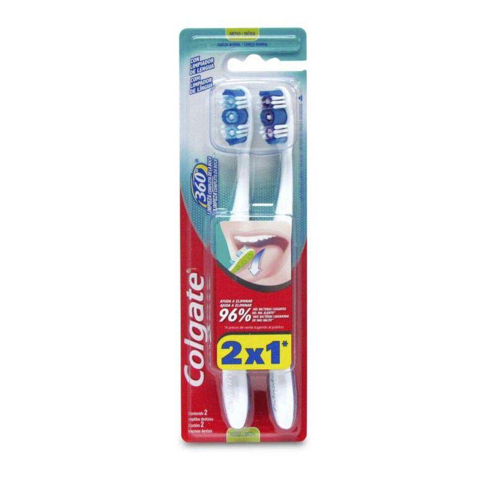 Cepillo Dental Colgate 360º Original Medio 2 Unidades image number null