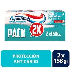 Pack Crema Dental Advanced Triple Protección Con Flúor 158 grs x2