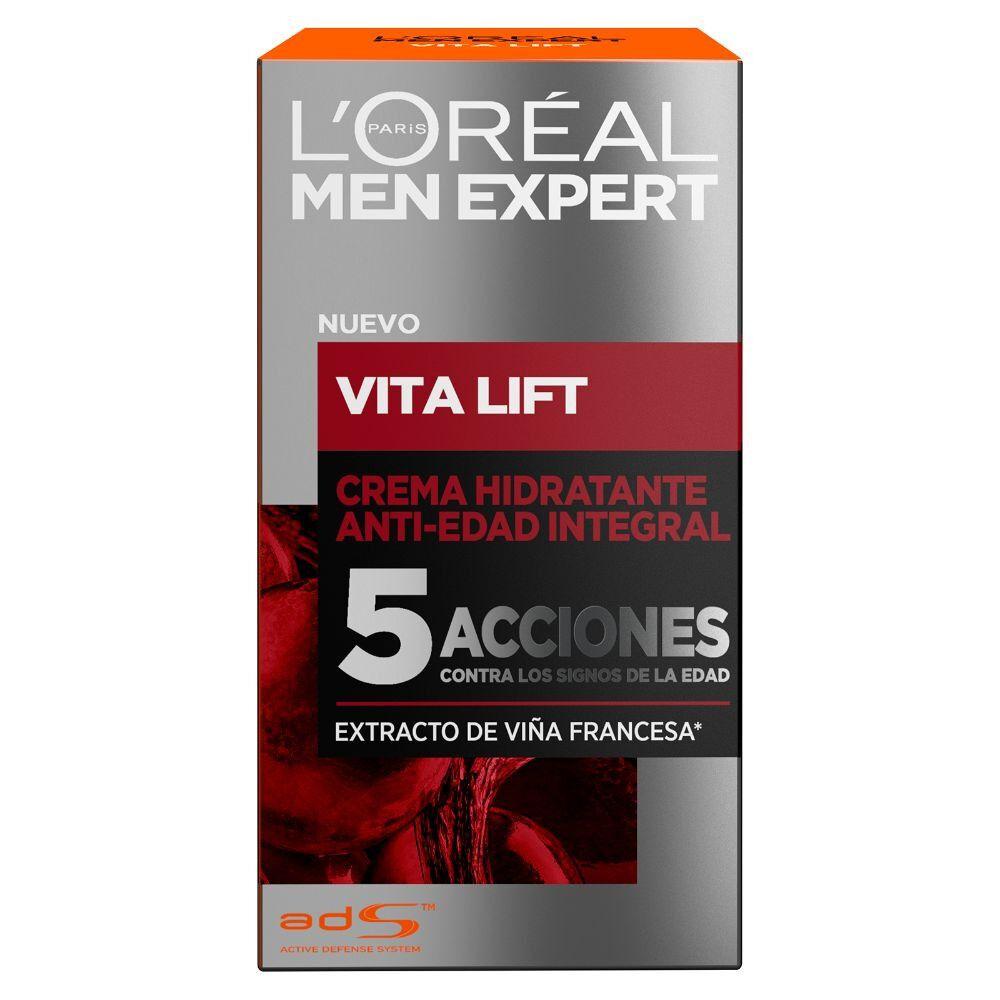 Men Expert Crema Hidratante Anti-Edad Integral Vita Lif 5 Acciones 50 mL image number null