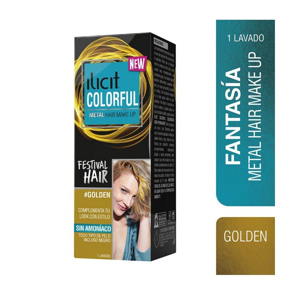 Colorful Coloración Semi Permanente Metal Sin Amoniaco Golden 30 mL