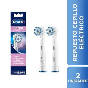 Repuesto Cepillo de Dientes Eléctrico Sensi Ultrafino X2