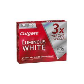 Luminous White Pasta Dental de 3 unidades de 90 gr