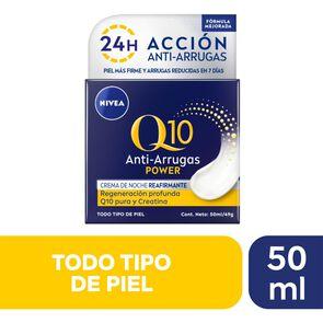 Crema Facial Antiarrugas Noche Q10 Power 50 mL