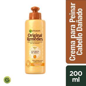 Crema Reconstituyente S/Aclarado Tesoros de Miel 200 mL