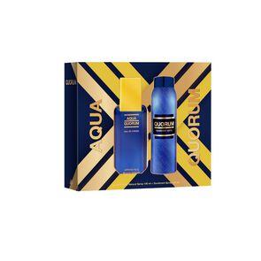 Pack Estuche Aqua Eau De Toilette Spray 100 mL y Desodorante Spray 150 mL