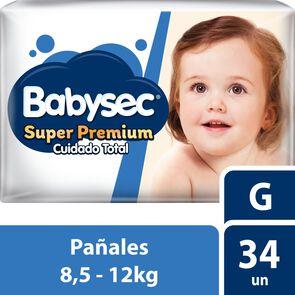 Pañal Super Premium Talla G x 34 Pañales