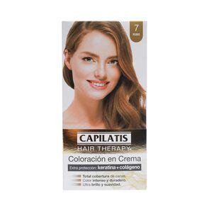 Hair Therapy Coloración Crema 7,1 Rubio Ceniza Keratina + Colágeno 47 grs