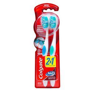 Cepillo Dental 360  Luminous White Medio X2