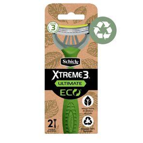 Xtreme 3 Ultimate Eco Máquina de Afeitar 3 Hojas Desechable X2