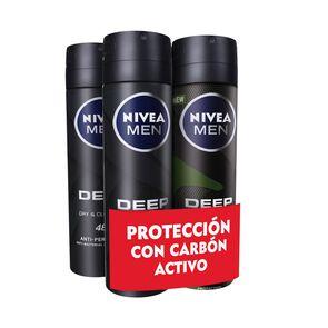 Pack 4X Desodorante Spray Deep 150 mL