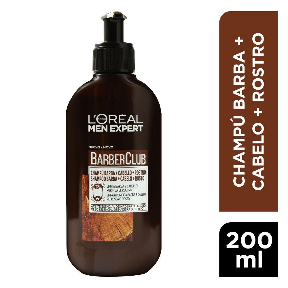Men Expert Shampoo Barber Club 3 en 1 Barba+Cabello+Rostro 125 mL image number null
