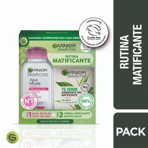 Crema Te Verde Hidratante Matificante 50 mL + Agua Micelar 100 mL