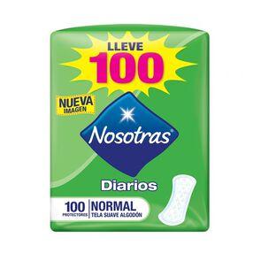 Protectores Diarios Normal Tela Suave 100 Protectores