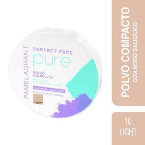 Perfect Face Pure Polvo Compacto 10 Light P/Mixtas y Grasas 12 grs