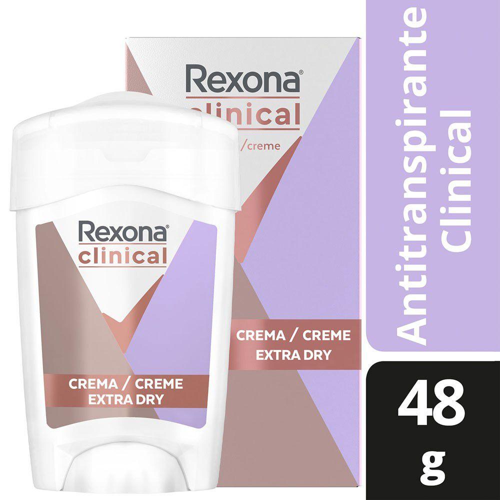 Clinical Desodorante Femenino Extra Dry Crema En Barra 48 grs image number null