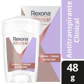 Clinical Desodorante Femenino Extra Dry Crema En Barra 48 grs