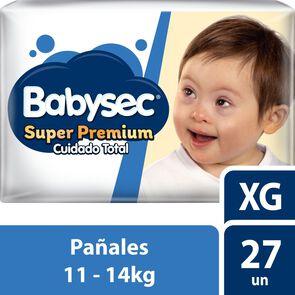 Super Premium Pañales Desechables Talla XG 27 Unidades