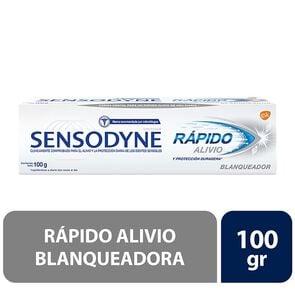 Crema Dental Rápido Alivio Blanqueador 100Gr