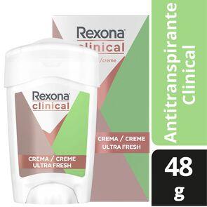 Clinical Desodorante Femenino Ultra Fresh Crema En Barra 48 grs