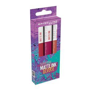 Super Stay Labial Larga Duración Matte Ink Diverse 5mL X3